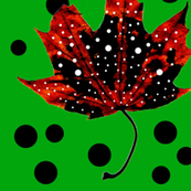 Polka Dotty Leafs (Green/Red/White/Black)
