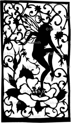 Dancing Faerie Silhouette
