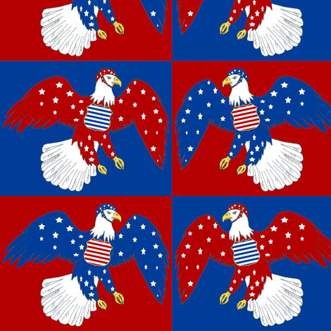 All Our Eagles fabric by eclectic_house on Spoonflower - custom fabric