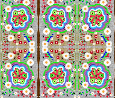 JamJax Spider Flower fabric by jamjax on Spoonflower - custom fabric