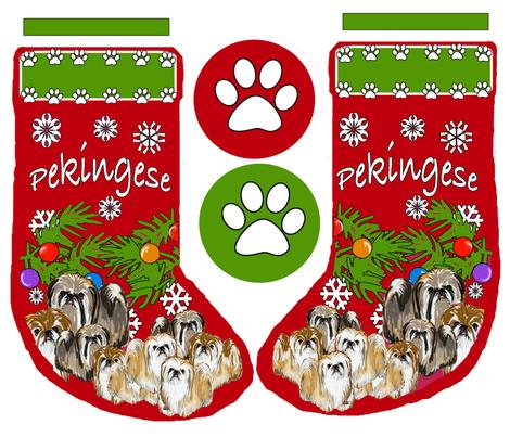 pekingese_stocking fabric by dogdaze_ on Spoonflower - custom fabric