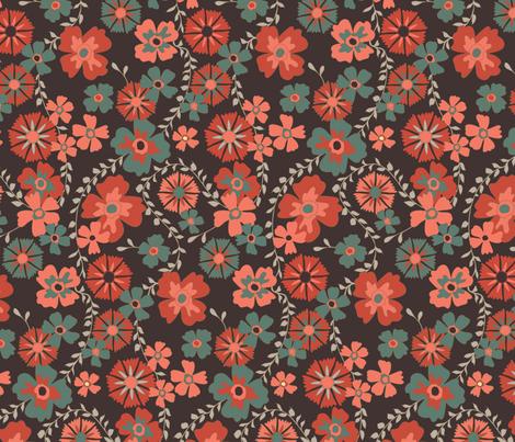 dark floral fabric by kezia on Spoonflower - custom fabric