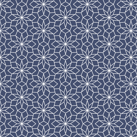 Blues: Flowers fabric by jennartdesigns on Spoonflower - custom fabric