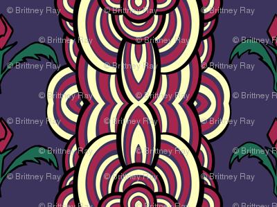 Funky Floral Stripes
