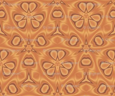 Orange Digital Flowers Cozy © Gingezel 2011