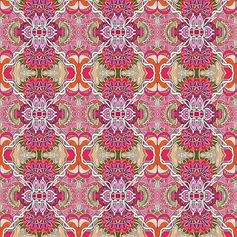 Chrysanthemum Celebration fabric by edsel2084 on Spoonflower - custom fabric