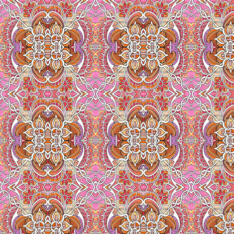 Happy Times in an Abstract Garden fabric by edsel2084 on Spoonflower - custom fabric