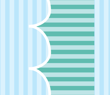 wavesaqua fabric by alison_and_bear on Spoonflower - custom fabric