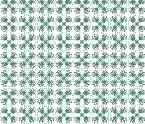 Hawaiian Sea Turtles Cheater Quilt Coordinate 2 - © Lucinda Wei fabric by lucindawei on Spoonflower - custom fabric
