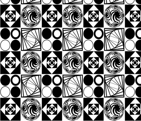 Monochromatic Mod fabric by glanoramay on Spoonflower - custom fabric