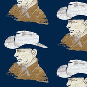 Joseph's Hat Shop, large, Navy background