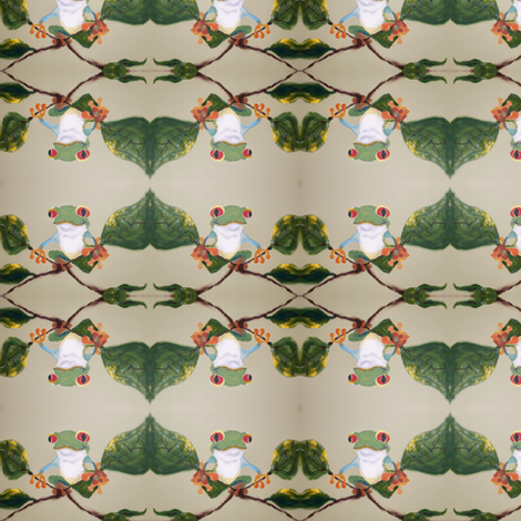 Tree frog fabric by c_potter_murals on Spoonflower - custom fabric