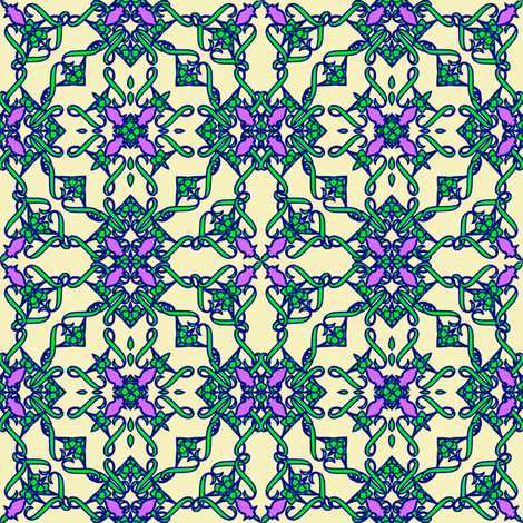 TileOne4-ch fabric by grannynan on Spoonflower - custom fabric
