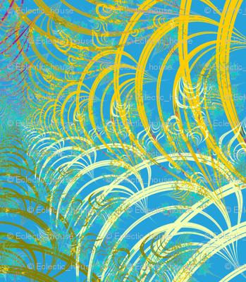 Subtle Feathery Swirls