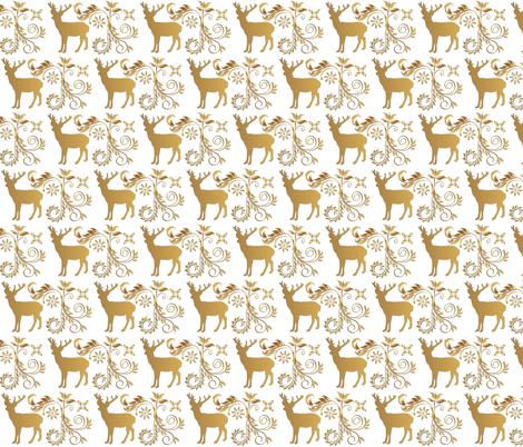 Vintage Deer  fabric by icarpediem on Spoonflower - custom fabric