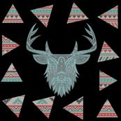 Vintage Tribal Deer