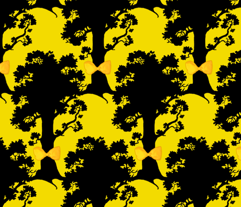 Tie A Yellow Ribbon Round The Old Oak Tree fabric by peacoquettedesigns on Spoonflower - custom fabric