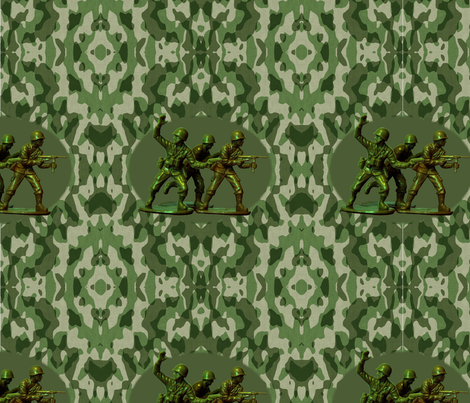 Plastic Army Men Damask fabric by melissa_haviland on Spoonflower - custom fabric