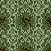 Plastic Army Men Damask
