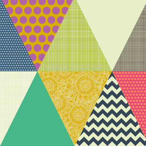 New York Beauty triangles smaller fabric by scrummy on Spoonflower - custom fabric