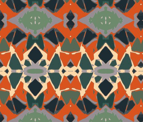 Reminds Me of Old Mexican Tiled Floor  fabric by susaninparis on Spoonflower - custom fabric