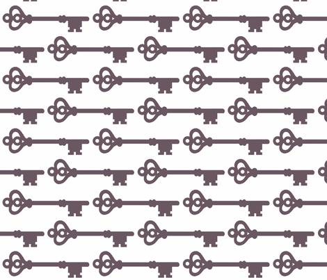 Skeleton Keys fabric by dorolimited on Spoonflower - custom fabric