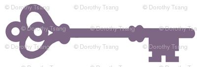 Skeleton Keys in Purple