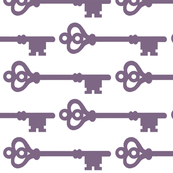 Skeleton Keys in Purple