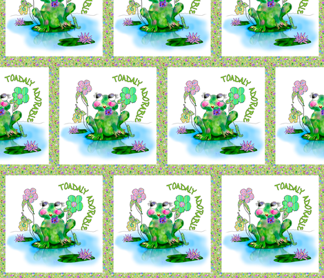 Francine La Froggie by Rosanna Hope for Babybonbons fabric by rosannahope on Spoonflower - custom fabric