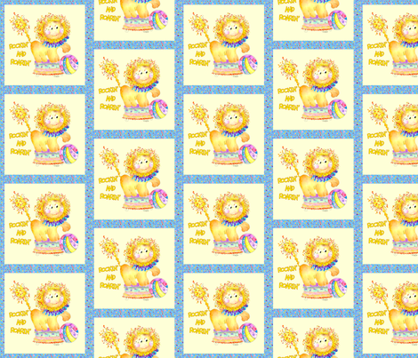 McLion is Rockin and Roarin by Rosanna Hope for Babybonbons fabric by rosannahope on Spoonflower - custom fabric