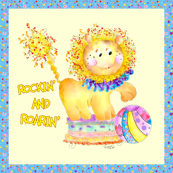 McLion is Rockin and Roarin by Rosanna Hope for Babybonbons