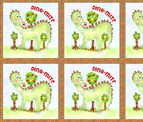 Maximilian the Dino fabric by rosannahope on Spoonflower - custom fabric