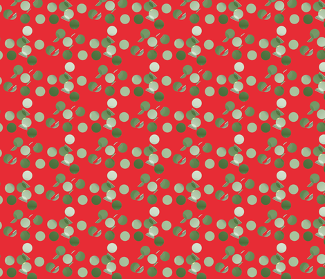 green_bits_on_red_background fabric by vinkeli on Spoonflower - custom fabric