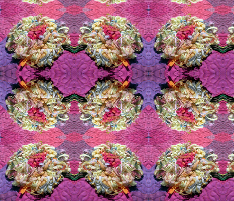 Fringe Flower in Fucshia fabric by persimondreams on Spoonflower - custom fabric