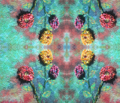 Triple Fringe Flowers fabric by persimondreams on Spoonflower - custom fabric