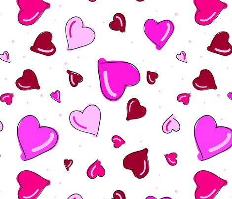 Valentine's Day Hearts fabric by donnamarie on Spoonflower - custom fabric
