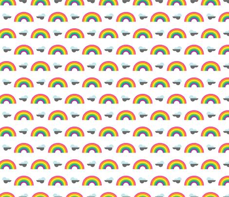 Mini Rainbow Stickers fabric by cynthiafrenette on Spoonflower - custom fabric