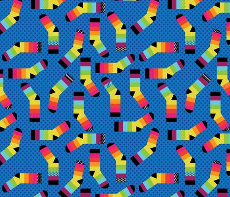 Rainbow Feet fabric by cynthiafrenette on Spoonflower - custom fabric