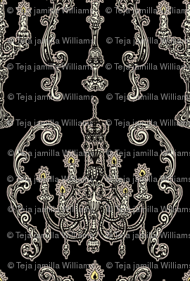 Chandelier and Candelabras Black
