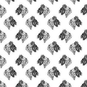 Cesky Terrier head sketch - B/W
