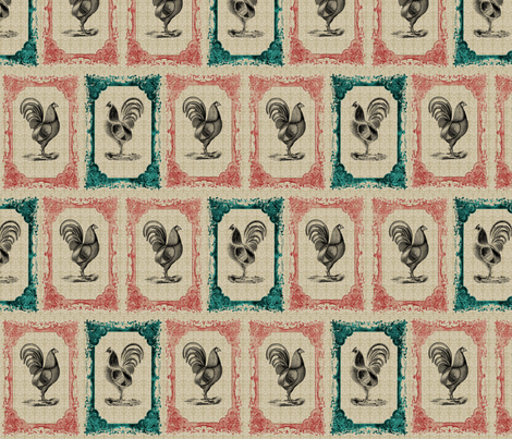 Rustic Rooster  fabric by icarpediem on Spoonflower - custom fabric