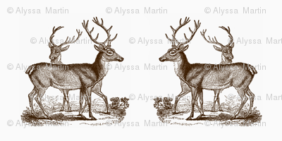 Vintage Deer --Brown