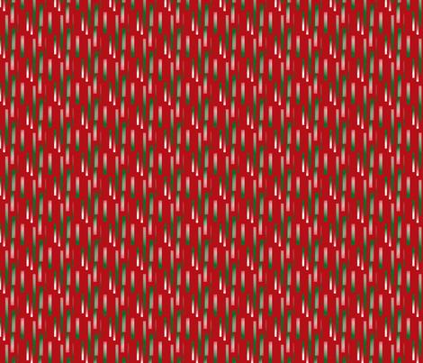 green-white_bits_on_red_background fabric by vinkeli on Spoonflower - custom fabric