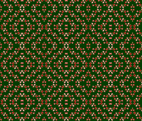 red-white_balls_on_green_background fabric by vinkeli on Spoonflower - custom fabric
