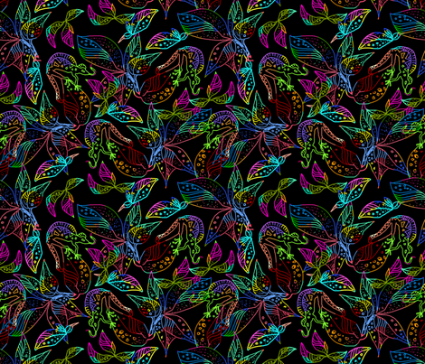 Camouflaged Lizards fabric by eclectic_house on Spoonflower - custom fabric