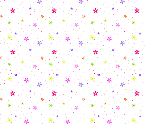 Multi Colored Flowers fabric by donnamarie on Spoonflower - custom fabric