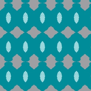 Teal Mint Gray Pine Cones