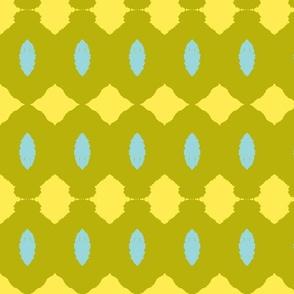Yellow Green Mint Pine Cones