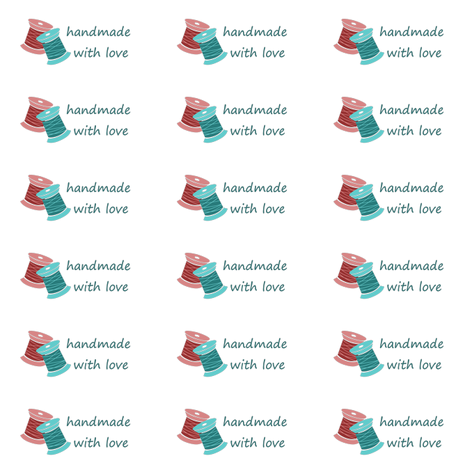 Made With Love Label fabric by icarpediem on Spoonflower - custom fabric