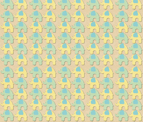 Oh Sweet Baby Elphant Parade  fabric by icarpediem on Spoonflower - custom fabric